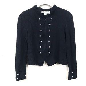 St. John Black cropped cardigan sweater 4